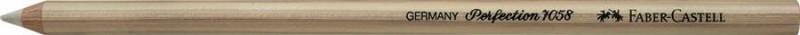 Radiera Creion Perfection Faber-Castell, radiera alba cu pensula