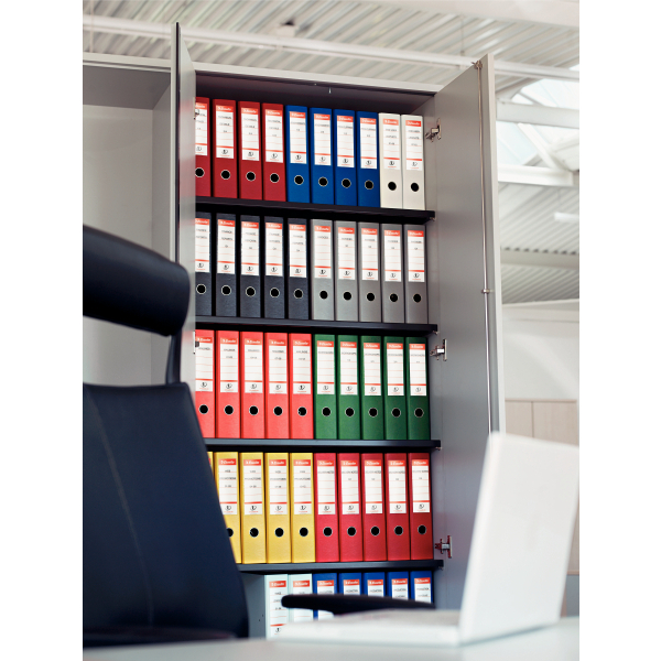 Biblioraft dublu plastifiat, 7.5cm, galben, ESSELTE No. 1 Power