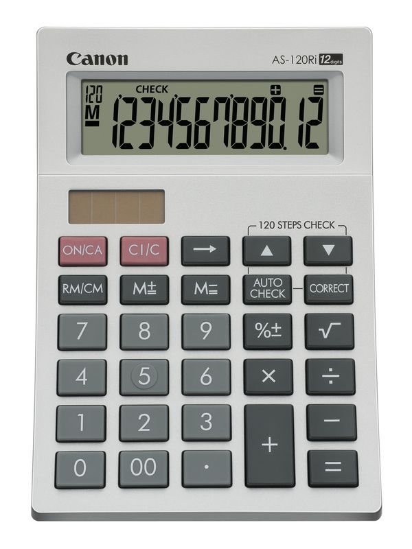 Calculator de birou, 12 digiti, CANON AS-120Ri