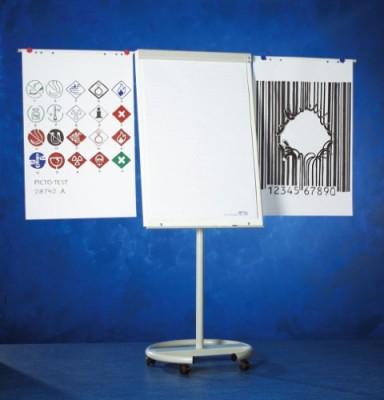 Flipchart cu brate laterale, ajustabil in inaltime, cu rotile, 105 x 70 cm, SMIT Vario