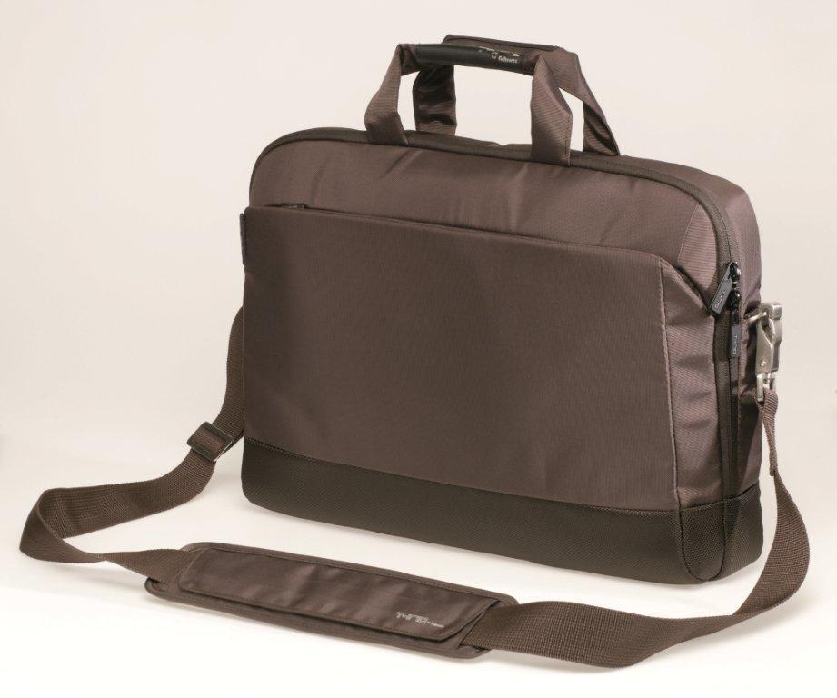 Geanta pentru laptop, 15.6``, material textil, maro, FELLOWES Thrio Easy