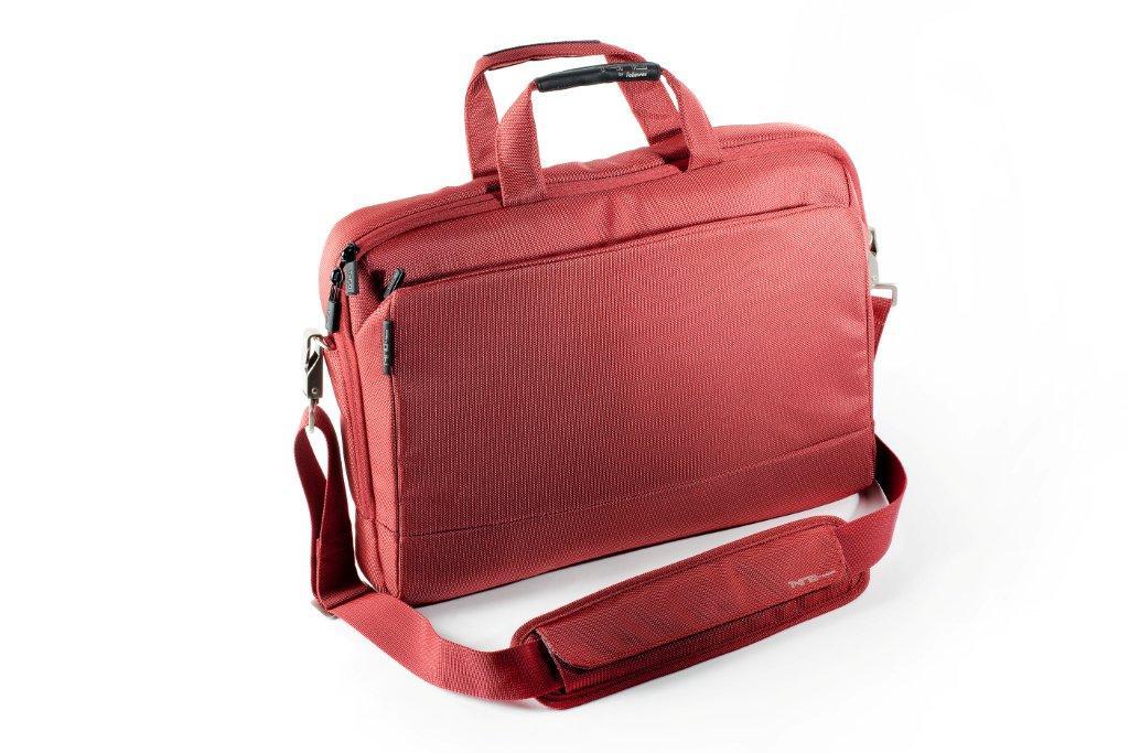 Geanta pentru laptop, 15.6``, material textil, rosu, FELLOWES Thrio Messenger