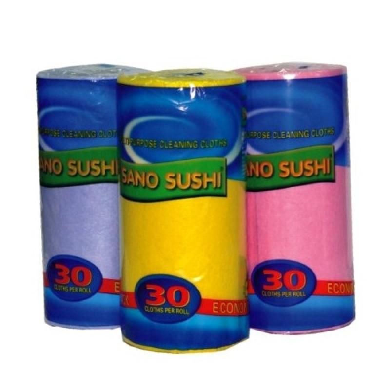 Laveta uscata universala, 30 buc/rola, albastru, SANO Sushi
