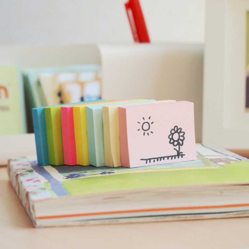 Notes autoadeziv 76 x 51 mm, 100 file, Stick - galben pastel