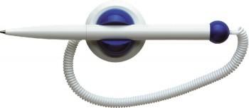 Pix plastic cu suport autoadeziv si cu snur, SCHNEIDER Klick-Fix - corp alb - scriere albastra