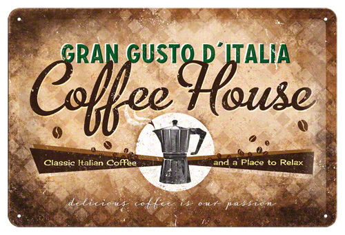 Placa, 20x30cm, Coffee House