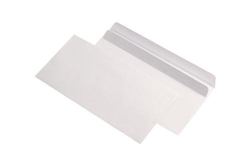 Plic DL, 110 x 220mm, autoadeziv, alb, 80 g/mp, fara fereastra, 25 buc/pachet