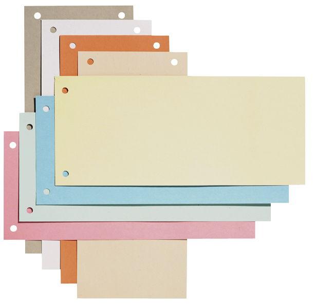 Separatoare din carton, 240 x 105mm, verde, 100 buc/set, ELBA