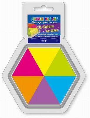 Stick notes puzzle - 43 x 50 mm, HOPAX - 6 culori fluorescente